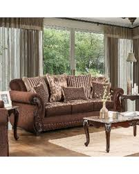 traditional fabric sofas. Perfect Traditional Furniture Of America Newland Traditional Solid Wood Fabric Sofa Brown And Sofas O