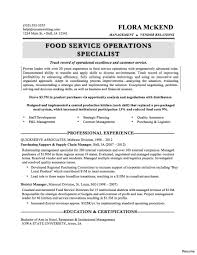 Food Service Resume Examples Samples Food Servicememes Sample For Manager Example Customer Of Director 2