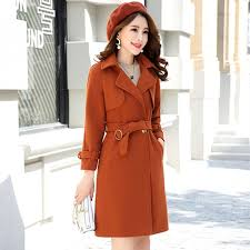 autumn and winter coats 2018 new fashion women s woolen coat double ted elegant woolen long coat outerwear with belt s l clothing