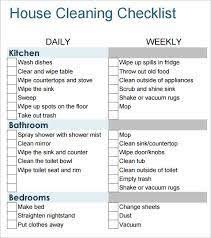 Sample House Cleaning Schedule. House Cleaning Schedule Template ...