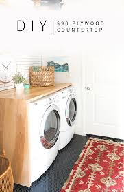 counter over washer and dryer ikea. Exellent Ikea 90 DIY Plywood Waterfall Countertop Tutorial  Vintage Revivals With Counter Over Washer And Dryer Ikea A