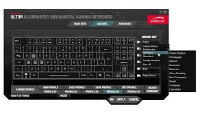 Компактная механическая клавиатура speedlink ultor Далее на странице macros в правой части окна вы можете назначить созданные записи комбинаций конкретным клавишам m1 m6 Кроме комбо можно назначить