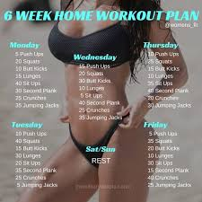 if you want to lose weight gain muscle or get fit check out our men s and women s home workout plan for you here are mini challenges