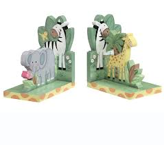 teamson kids bookends sunny safari