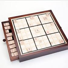 Wooden Sudoku Game Board Bits and Pieces Deluxe Wooden Sudoku Game BoardComes With 75