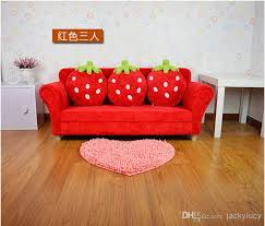 coral furniture. Coral Velvet Children Sofa Chairs Cushion Furniture Set Cute Strawberry Style Couch For Kids Room Decor
