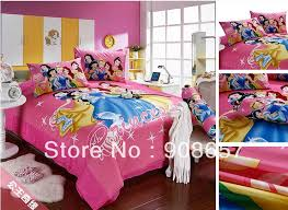 100 cotton cartoon bedding set cute pink princess 3d printed kids girls bed linens 3 4pcs twin full queen king size duvet cover in bedding sets from home
