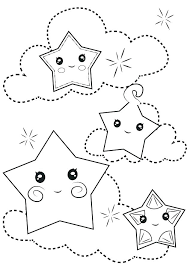 Moon And Stars Coloring Pages Coloring Page Night Moon And Stars