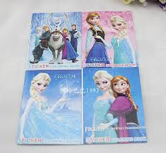kids children s elsa anna olaf frozen stickers oil painting notebook drawing book stationery cute drawing book colouring book xmas gift s kid coloring books