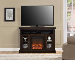 ameriwood furniture brooklyn electric fireplace tv console for tvs up to 50 espresso