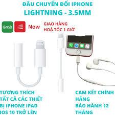 Jack chuyển tai nghe iphone lightning sang 3.5mm chính hãng cho ipad ip 7 8  plus x xs xr 11 12 pro max chính hãng