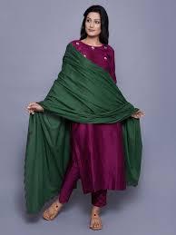 Green Mul Mul Embroidered Dupatta In 2019 Indian Designer