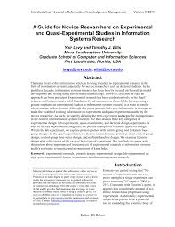 Simple True Experimental Design Pdf A Guide For Novice Researchers On Experimental And