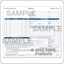 Automotive Repair Work Order Template North Road Auto 845 471