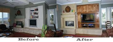 fireplace renovations before and after fireplace remodel edmonton