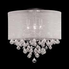 crystal flush mount lighting elegant new 4 lamp drum shade crystal flush mount ceiling light lighting