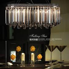 smoky gray crystal lamp for dining room rectangle bar lighting modern crystal chandelier lamp led re