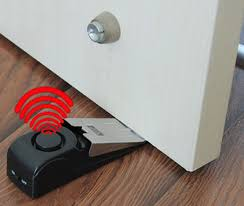 Door Stop Alarm Wedge Stopper Alarm Prevents Door from Opening