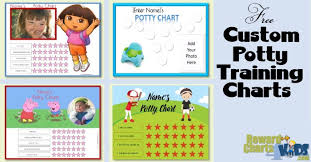 Free Potty Training Reward Chart And Stickers Free Potty Training Chart Printables Customize Online