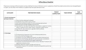 Office Move Timeline Template