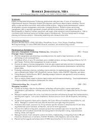 Example Mba Resume Sample Mba Resume Resume Template 1