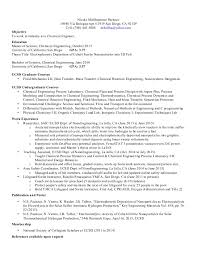 Chemical Engineering Resume Professional Resume Templates