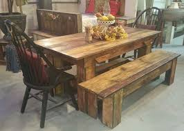 incredible rustic dining table and bench 10 rustic dining table design ideas ovilon