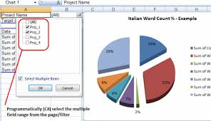 Sample Data For Pivot Table C Excel Pivot Table Filter On Multiple Items Codeproject