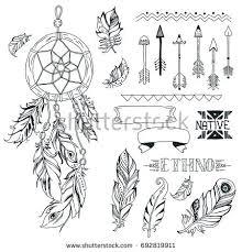 What Native American Tribes Use Dream Catchers Tribal Design Elements Aztec Symbols Arrows Stock Illustration 51