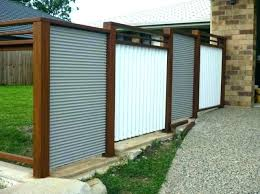 corrugated metal fence panels cost decoration iron with ripple a vacy how to build sheet