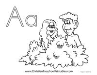 Adam Eve Crafts Printables Christian Preschool Printables