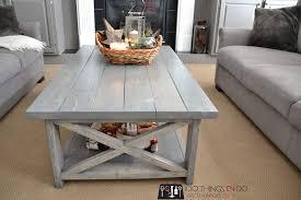 bigger rustic x coffee table ana white