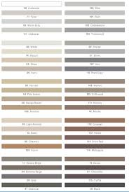 Grout Chart Info Color Charts Grout Shield Grout Restoration System