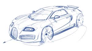Bugatti is celebrating a world premiere at the geneva international motor show: Bugatti Veyron Sketch 06 Artly
