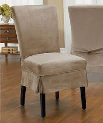 dining chair slipcovers contemporary drawing look what i found on driftwood new luxury suede parson mid pleat slip cover by caber surefit
