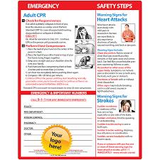 Velcro Memo Board Adult CPR Heart Attack Stroke Warning Signs Memo Board 100100 63