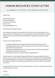 Cover Letter For Hr Astounding Hr Cover Letter To Make Cover Letter Format 6336