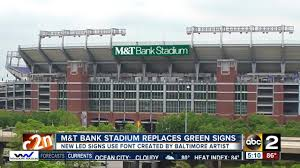 m t bank stadium signs replaced