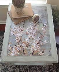 diy decoupage furniture. Cherry Blossom Decoupage Diy Furniture