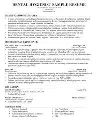 Plain Design Dental Hygiene Resume Dental Hygienist Resume Sample