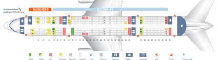 American Airlines Seating Chart 777 300 25 True Air China Seat Map