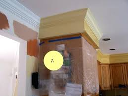 kitchen soffits crown molding kitchen before add crown molding how to alter s in kitchens