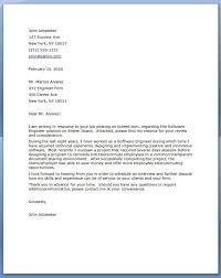 Job Application Letter For Software Engineer With Modern Resume Software Engineer Cover Letter Cover Letter For Resume