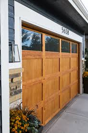painted wood garage door. Stop With Just Having Wood For The Garage Door, I Re-made Railings  On My Porch To Bring In Natural Wood. Originally Were Painted. Painted Door