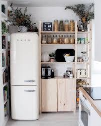 small kitchen refrigerator. Small Kitchen Retro Fridge Smeg Pantry Hacks Refrigerator