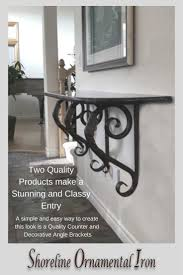 Angle Support Design Iron Leaf Angle Bracket Heavy Duty Tuscan House Decor Iron