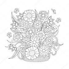 Doodle Bloemen Kruiden En Vlinder Stockvector Sliplee 97121910