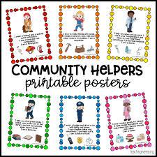 Community Helpers Printable Posters Teaching Mama Free