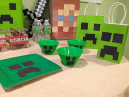 Minecraft Party Decorations Minecraft Party Decorations Celebrations Pinterest Bags