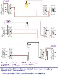 staircase wiring connection diagram all wiring diagram 3 different method of staircase wiring diagram and complete bridge wiring diagram 3 different method